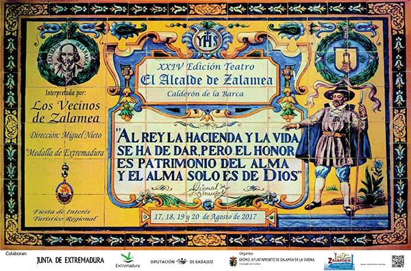 El XXIV Teatro Alcalde de Zalamea se celebrará el 17,18,19 y 20 de agosto 2017