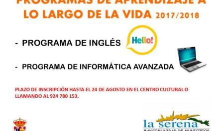 Programas de aprendizaje a lo largo de la vida, ingles e informatica avanzada en Zalamea