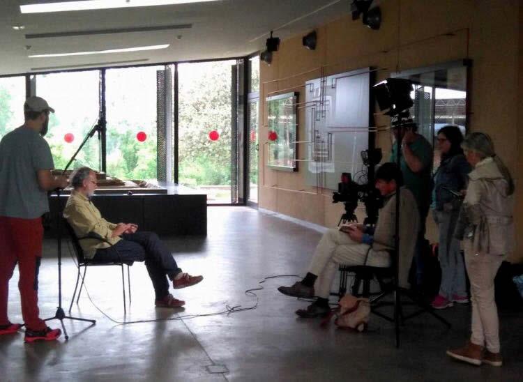 Grabación del programa Arqueomanía de La 2 de TVE en Cancho Roano