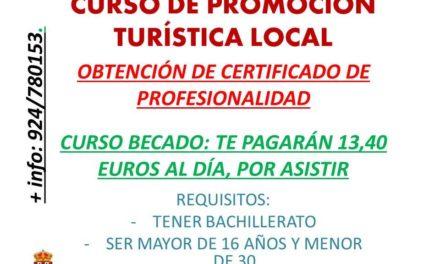 Curso becado, obtención del certificado de profesionalidad, en Promoción Turística Local