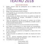 Concurso de fotografía Teatro 2018