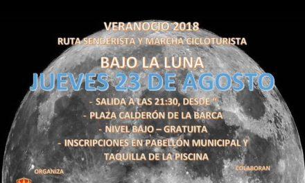 """Ruta Senderista y Marcha Cicloturista """"Bajo la Luna"""" Jueves 23 de Agosto"""