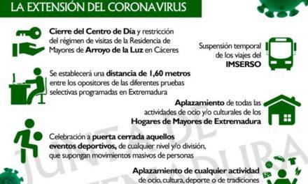 Medidas para evitar la extensión del Coronavirus
