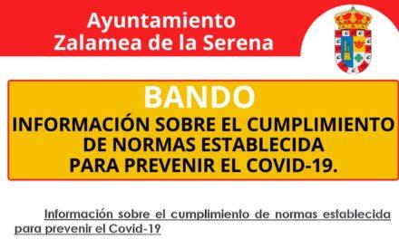 INFORMACIÓN SOBRE EL CUMPLIMIENTO DE NORMAS ESTABLECIDA PARA PREVENIR EL COVID-19.