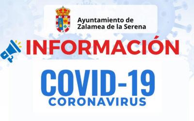 Información medidas Covid19 ante un caso positivo en Zalamea de la Serena