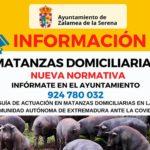 Importante información matanzas domiciliarias en Zalamea de la Serena.