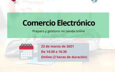 COMERCIO ELECTRÓNICO – TICCámaras.  el 23/03/2021 de 14:30h a 16:30h