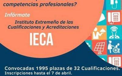 7 abril finaliza el plazo  para el reconocimiento y acreditación de las competencias profesionales de varias cualificaciones profesionales