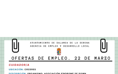 ofertas empleo 22 de marzo