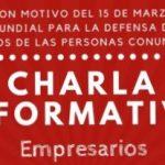 CHARLA INFORMATIVA PARA EMPRESAS – NORMATIVA BÁSICA EN MATERIA DE CONSUMO. 15 DE MARZO A LAS 11.00H