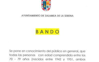 BANDO covid-19 AYUNTAMIENTO DE ZALAMEA DE LA SERENA