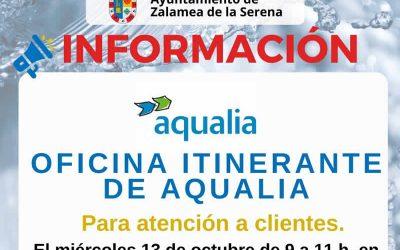 Oficina Itinerante de Aqualia Para atención a clientes